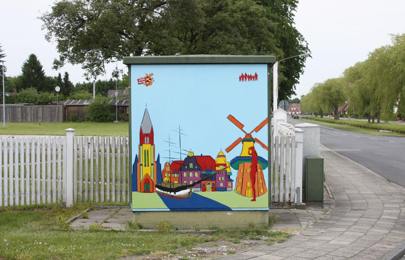 Laura, Wolfram, Kunstschule Zinnober, FSJkultur, FSJlerin, Sichtbarmalen, Papenburg