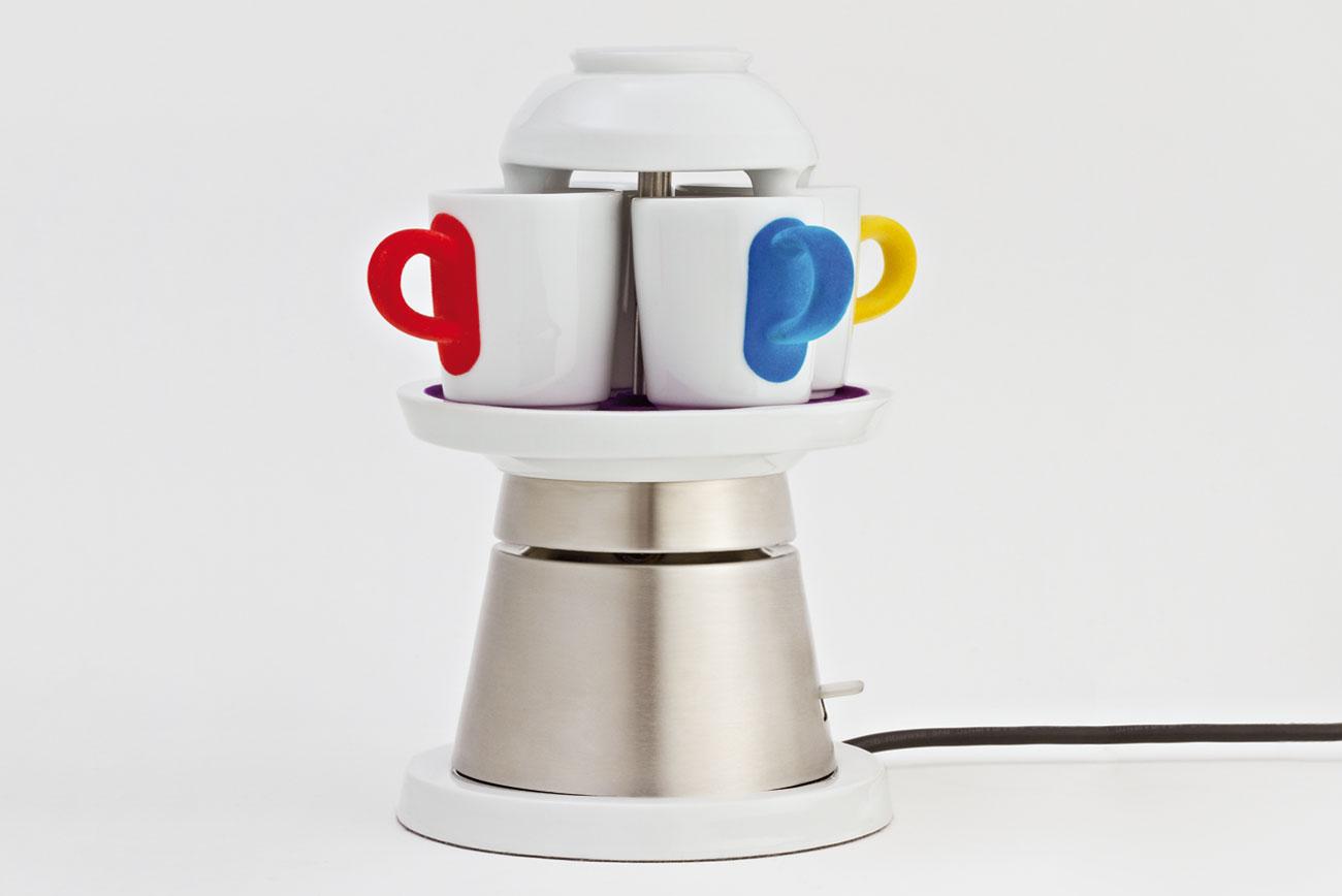 Laura, Wolfram, Bauhaus Universität, plastic fantastic, Tassenkarusell, Kahla, Espressomaschine